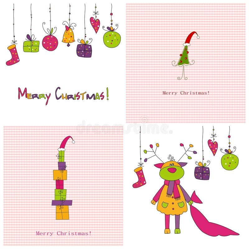Download Set of Christmas covers stock illustration. Illustration of beautiful - 19673790