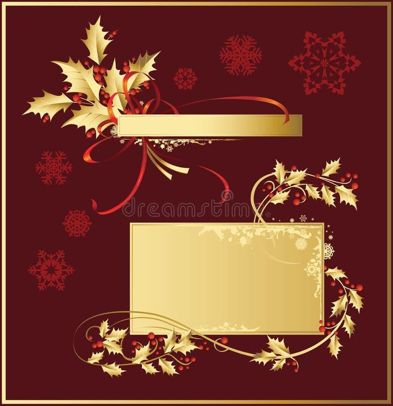Set_of_Christmas_decorations vektor abbildung