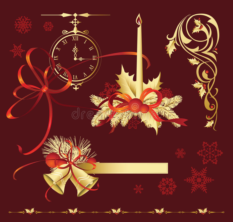 Download Set_of_Christmas_decorations Stock Vector - Image: 3544745