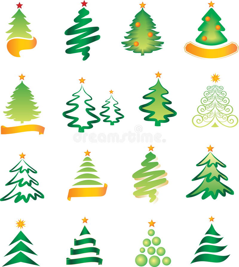 Download Set of christmas firs stock vector. Image of celebrate - 6824358