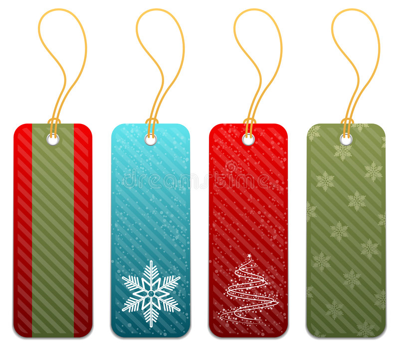 Set of Christmas gift tags. In 4 styles