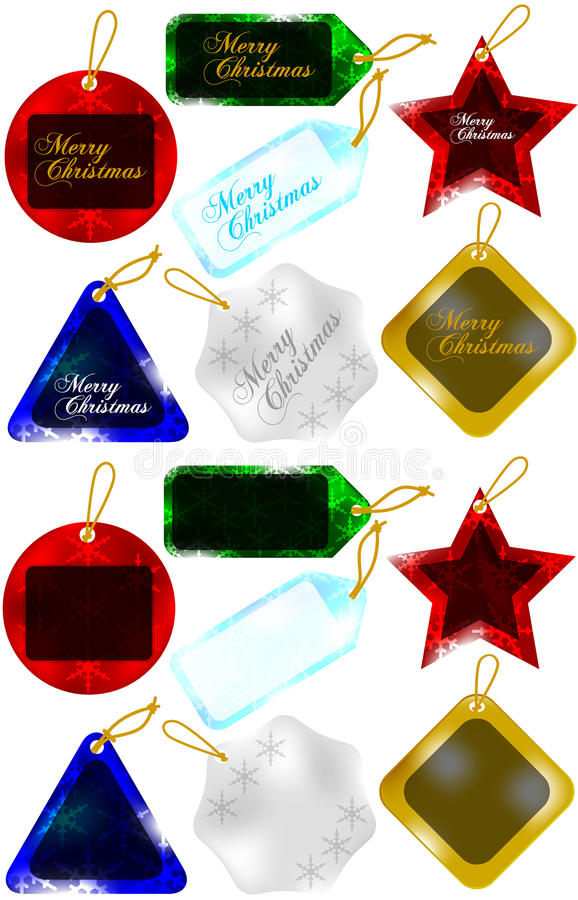 Download Set Of Christmas Gift Tags / Sale Tags Royalty Free Stock Photo - Image: 17062335