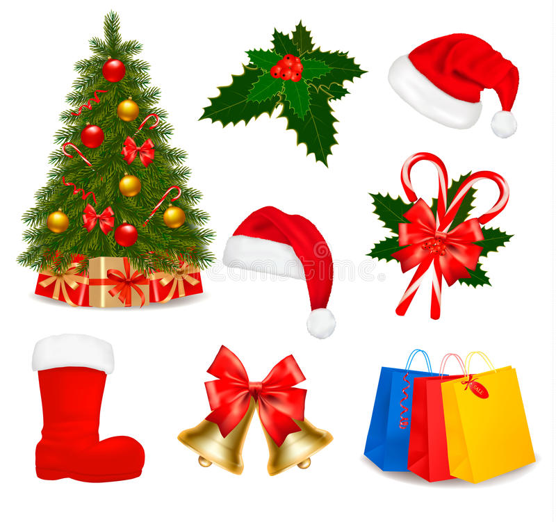 Download Set Of Christmas Icons. Vector Royalty Free Stock Photo - Image: 22207545