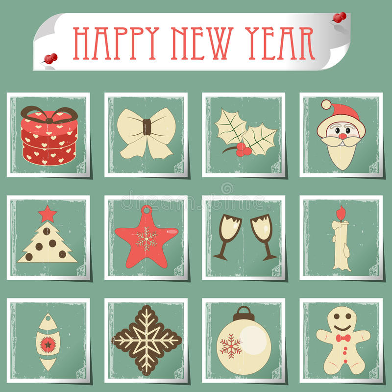 Download Set Of Christmas Icons Vector Stock Photo - Image: 34055000