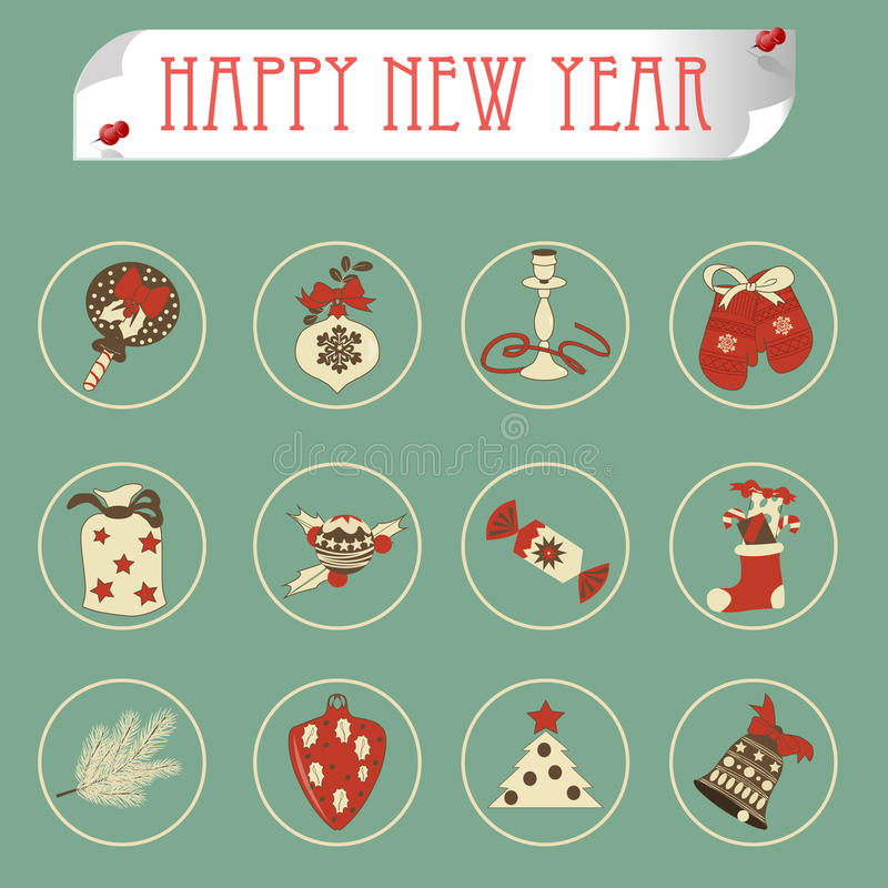 Download Set Of Christmas Icons Vector Stock Vector - Image: 34237751