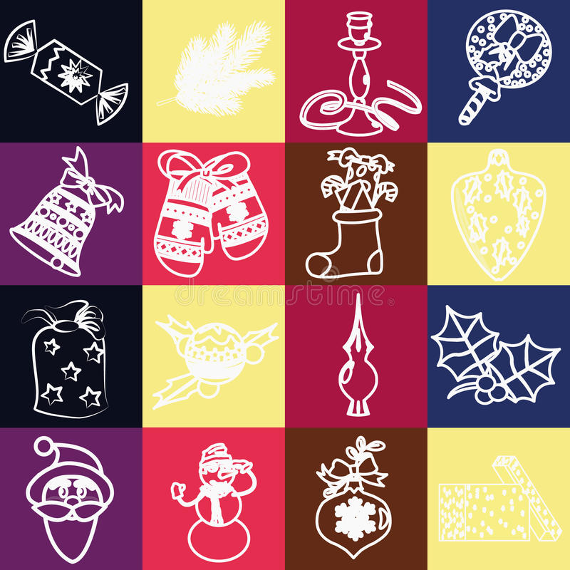 Download Set Of Christmas Icons Vector Stock Image - Image: 34288795