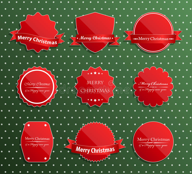 Set of christmas luxury labels. stock illustration