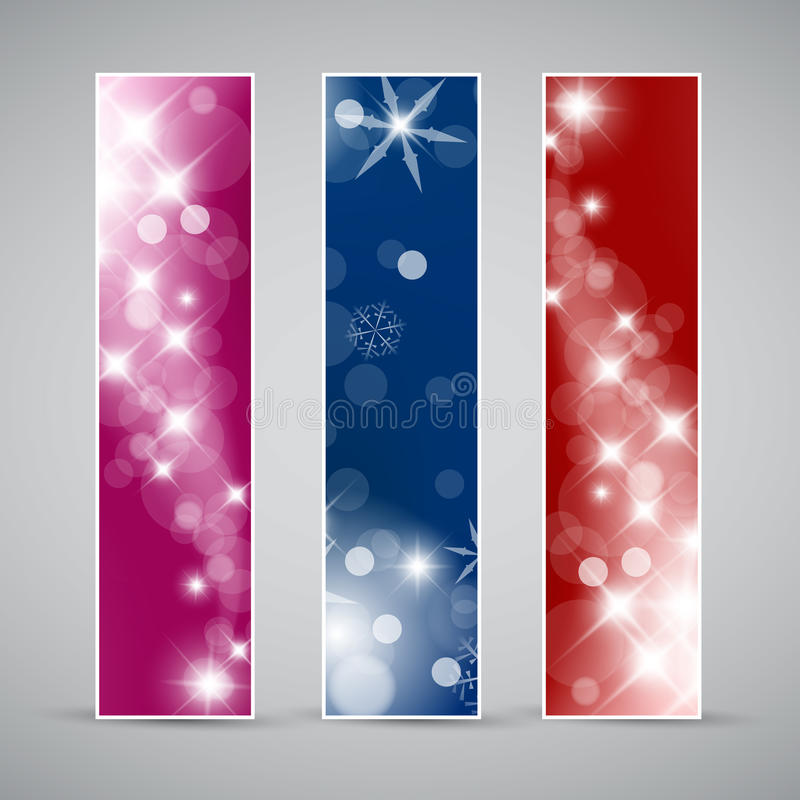 Download Set Of  Christmas / New Year Banners Stock Illustration - Image: 21511686