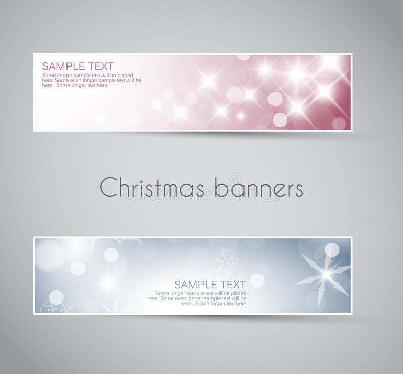 Download Set Of  Christmas / New Year Banners Stock Illustration - Image: 22105935
