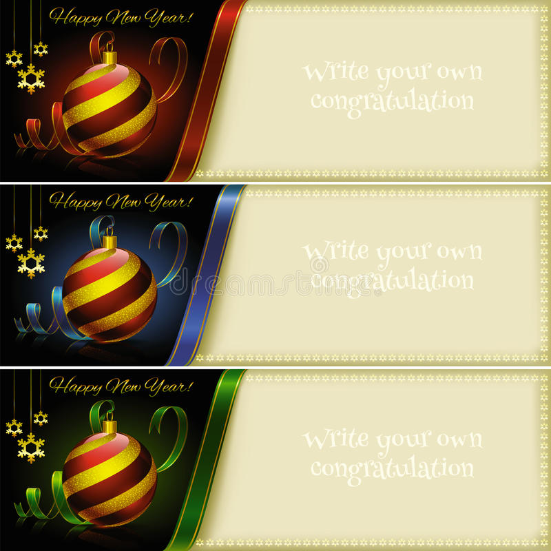 Set for Christmas and New Year greetings. Format royalty free illustration