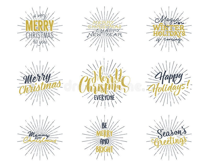 Set of christmas new year 2017 lettering wishes sayings and download set of christmas new year 2017 lettering wishes sayings and vintage labels m4hsunfo