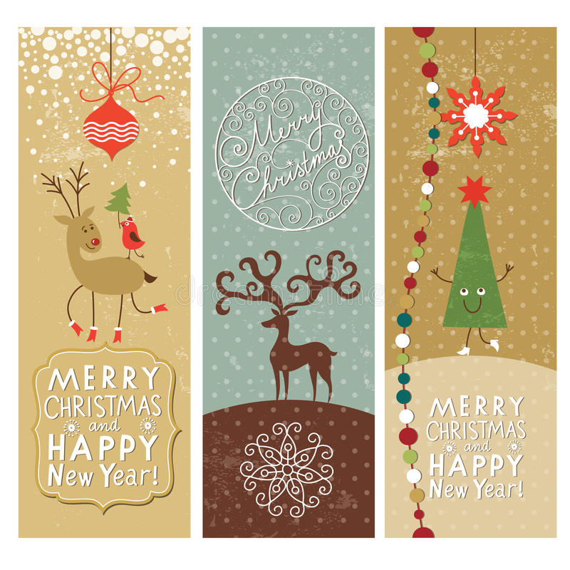 Download Set Of Christmas And New Years Banners Stock Vector - Image: 27838404