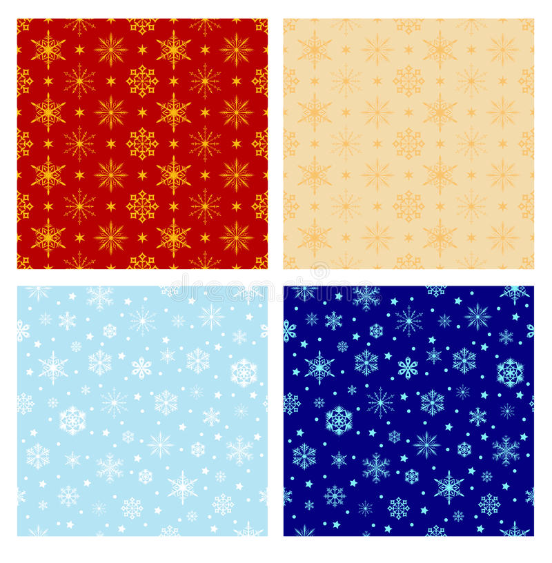 Set of Christmas patterns vector illustration