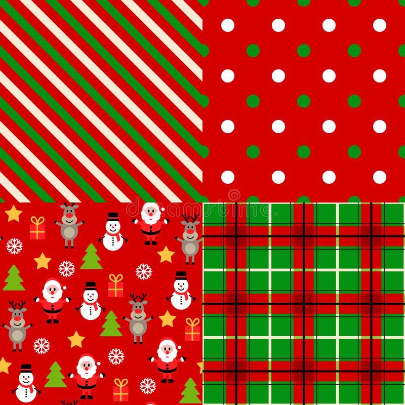 Set of christmas patterns royalty free illustration