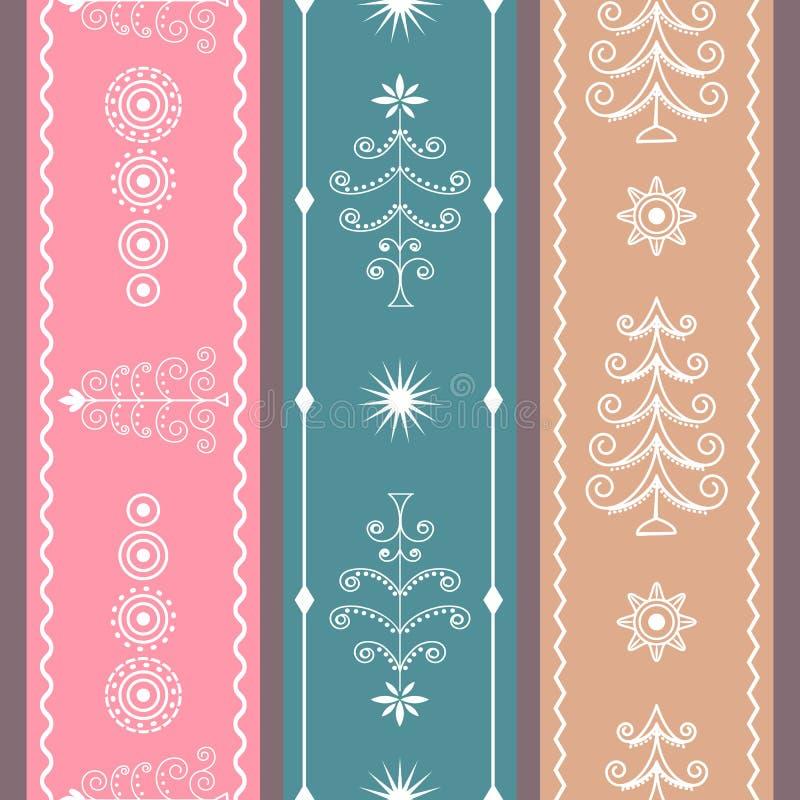 Set Christmas Ribbons royalty free stock image