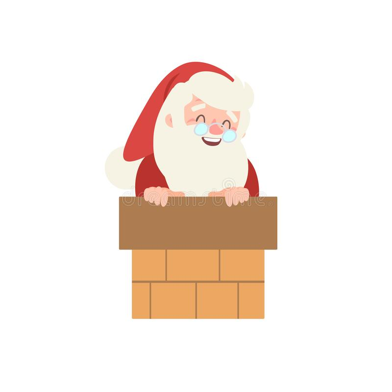 Set of christmas Santa Claus. vector illustration. Merry christmas design elements. xmas background. Vector personage stock illustration