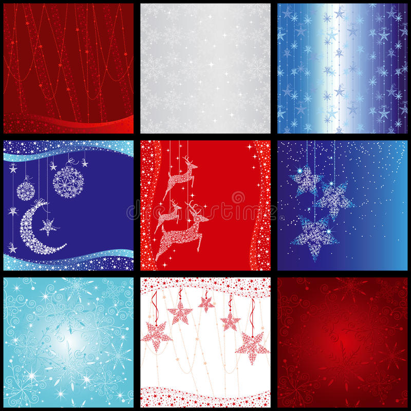 Set Of Christmas Snowflake Background Royalty Free Stock Photo