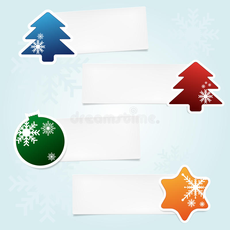 Download Set of christmas stickies stock vector. Illustration of shopping - 27456639