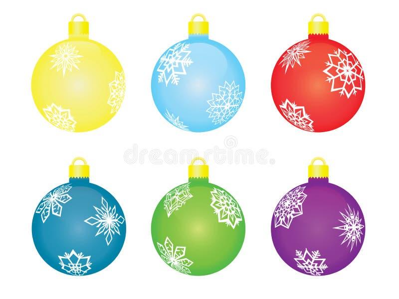 Set of christmas tree balls royalty free illustration