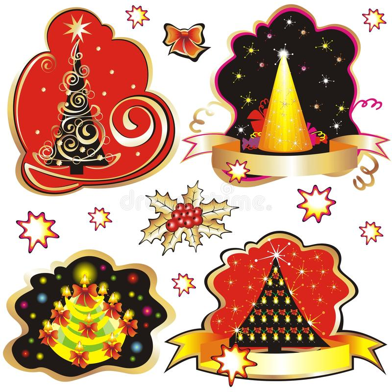 Download Set Of Christmas Tree Design Elements. Stock Vector - Image: 11982279