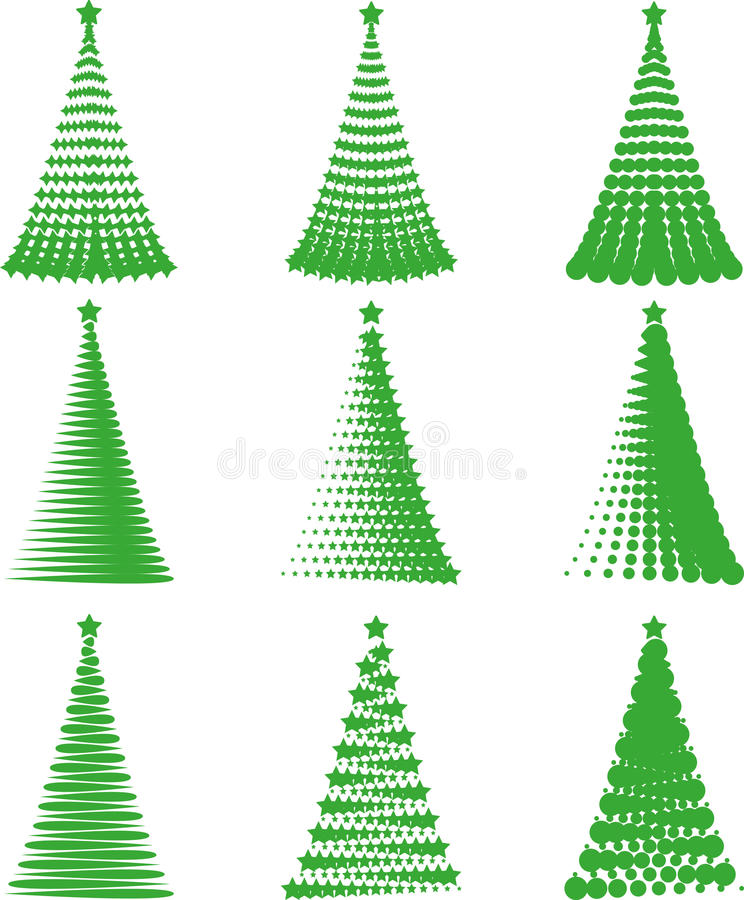 Download Set Christmas trees stock vector. Illustration of halftone - 27667888