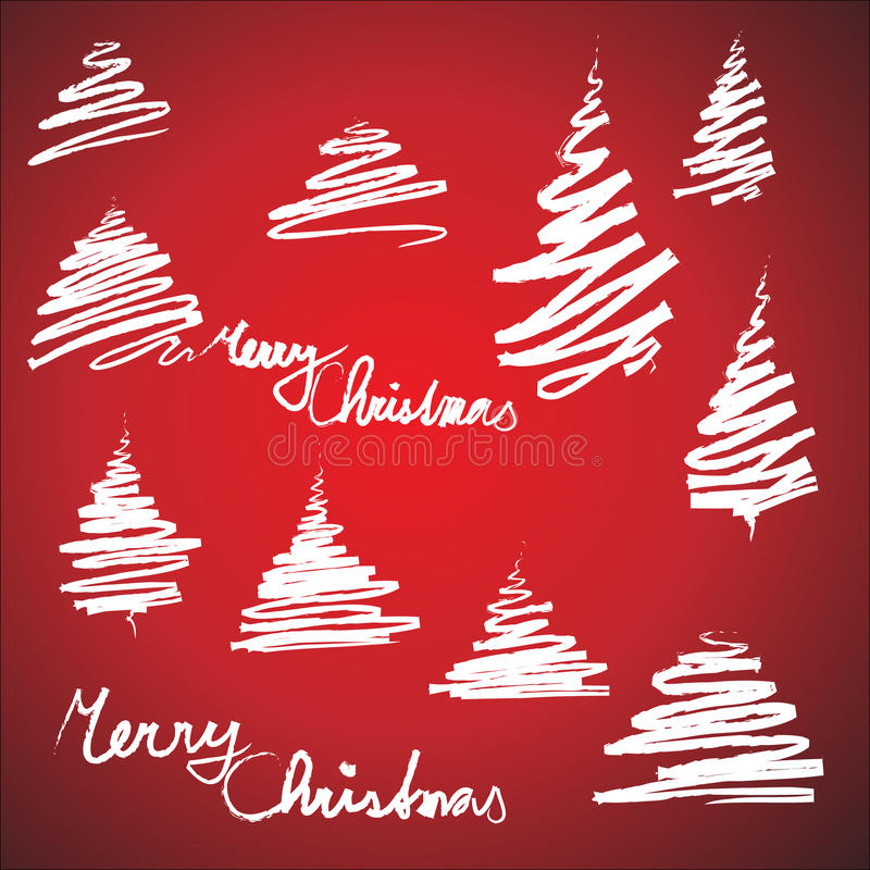 Download Set Of Christmas Trees Sketches Stock Vector - Image: 11833156