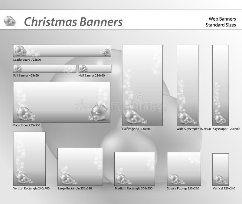 Set of Christmas web banners stock image