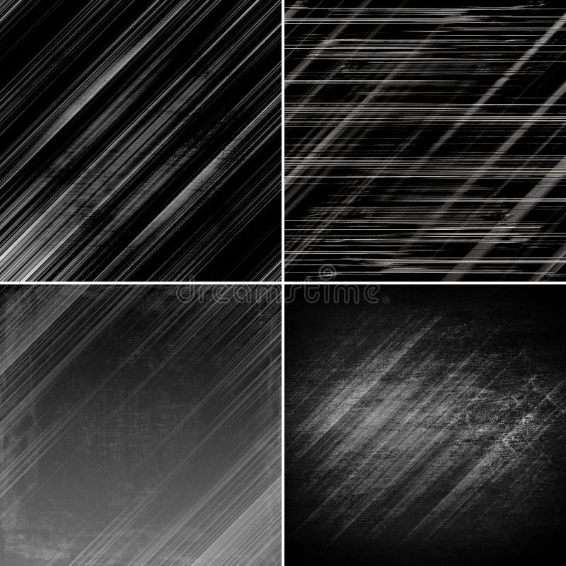 Set ciemny tło, ilustracja ilustracji