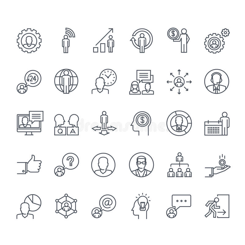 Set ciency kreskowi ludzie ikon ilustracji