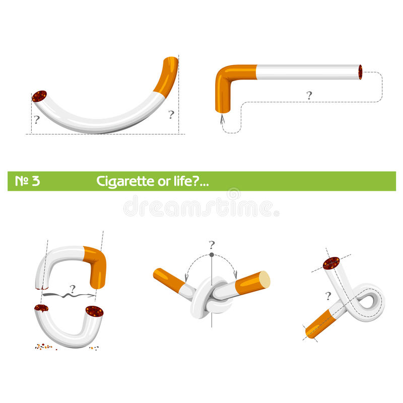 """Set cigarette or life â""""–3 royalty free stock photo"""