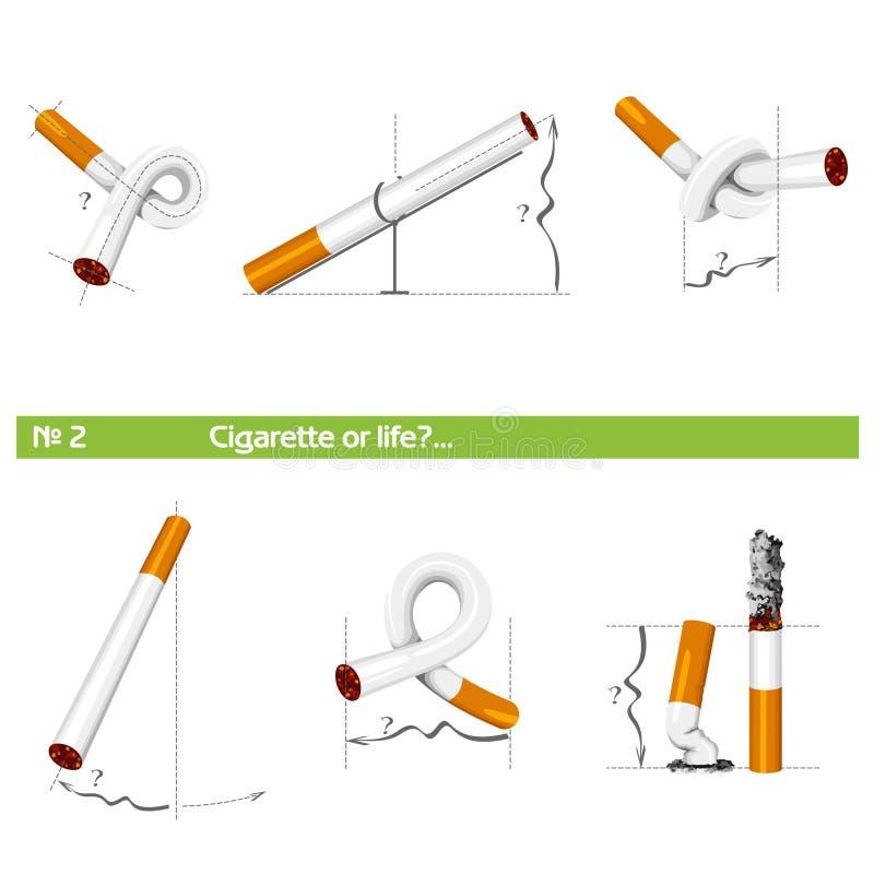 "Set cigarette or life â""–2 royalty free stock image"