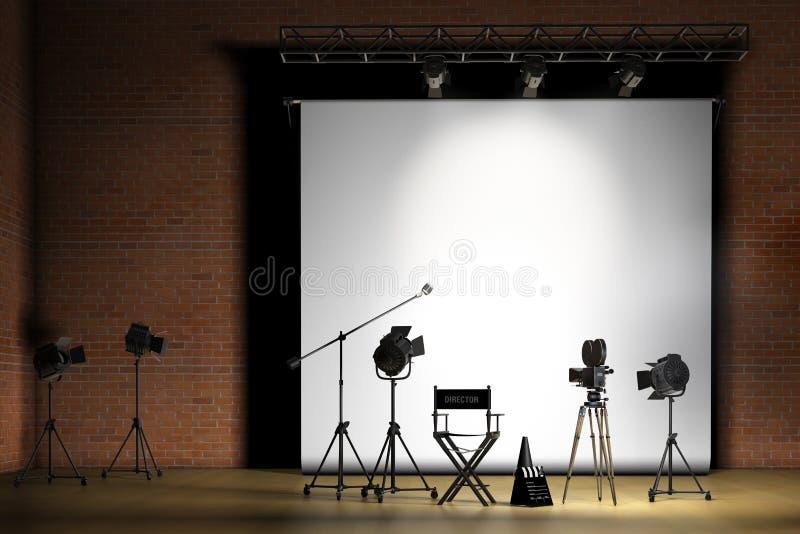 set cinematografico illustrazione di stock