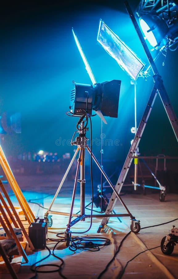 Set cinematografico professionale fotografie stock libere da diritti