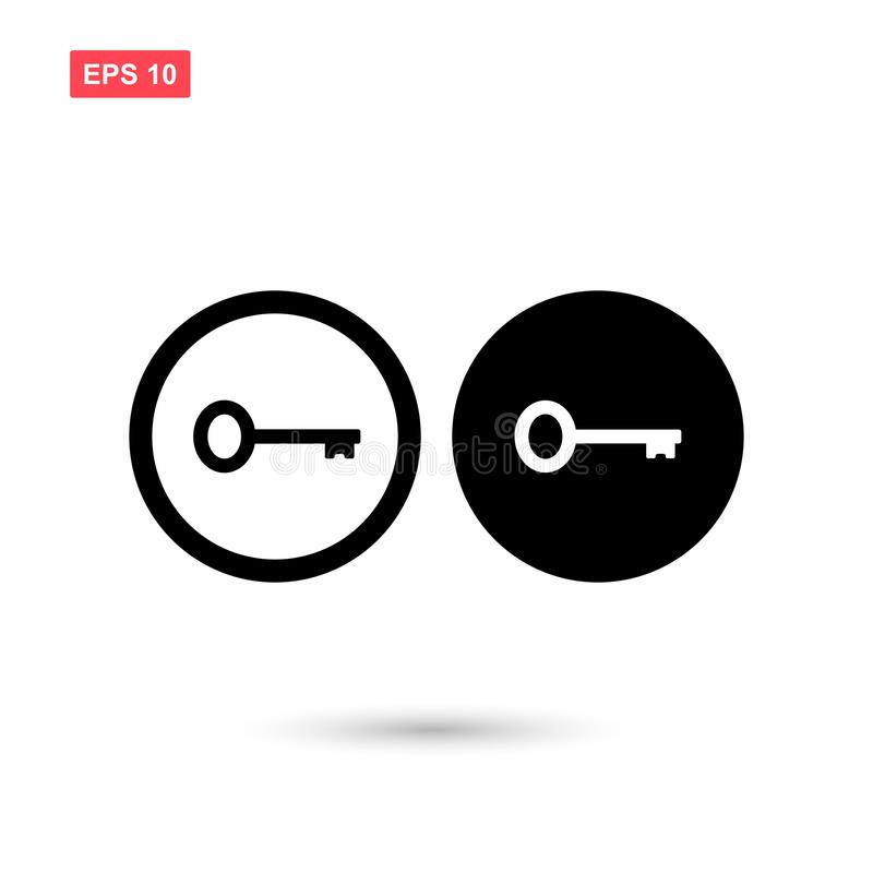 Set of circle black key icon vector isolated 1. Eps10 vector illustration