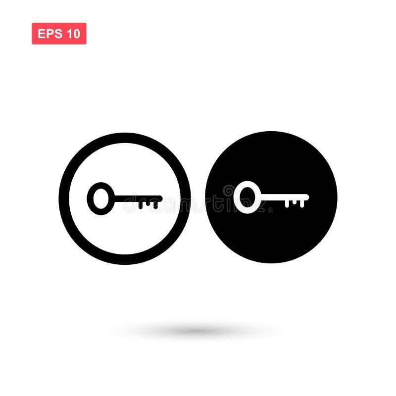 Set of circle black key icon vector isolated 4. Eps10 stock illustration