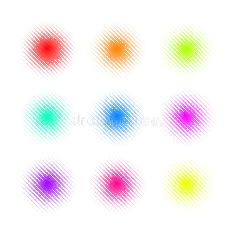 Set of Circle Colorful square Dot Banners. Noisy Round concepts. royalty free illustration