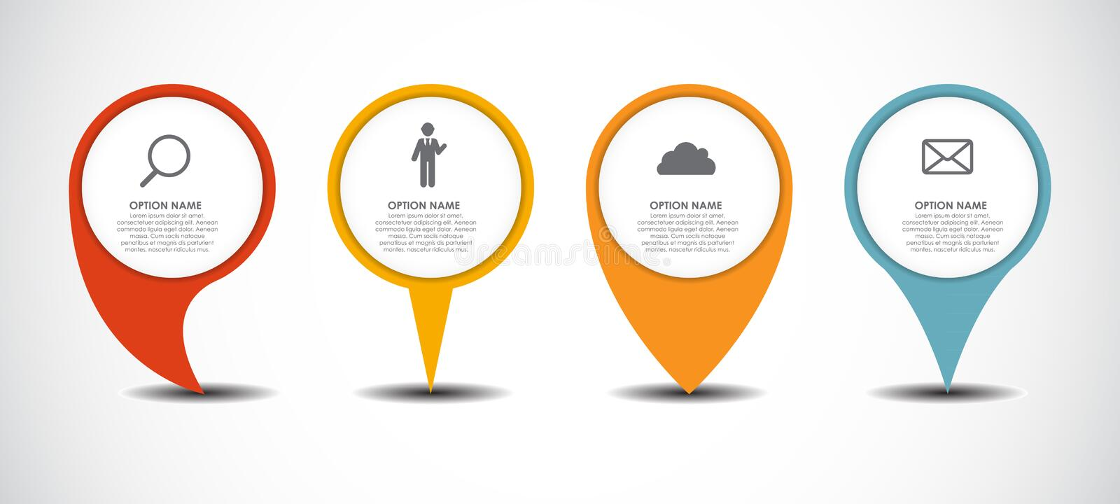 Set of Circle Pointers Infographic Business stock illustration