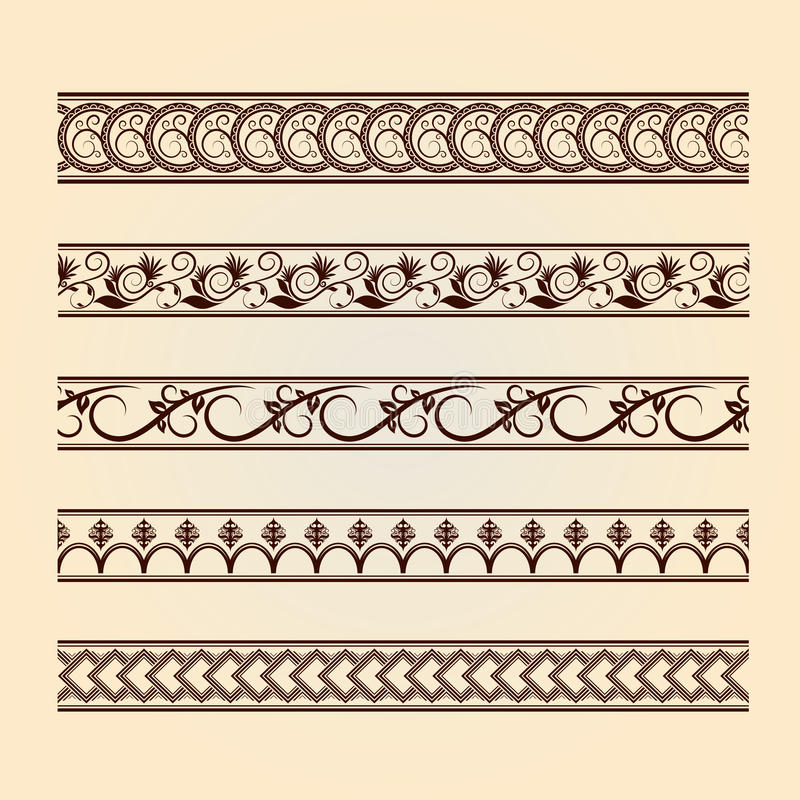 Download Set Of Classic Floral Lines (vintage Collection). Stock Vector - Image: 29290880