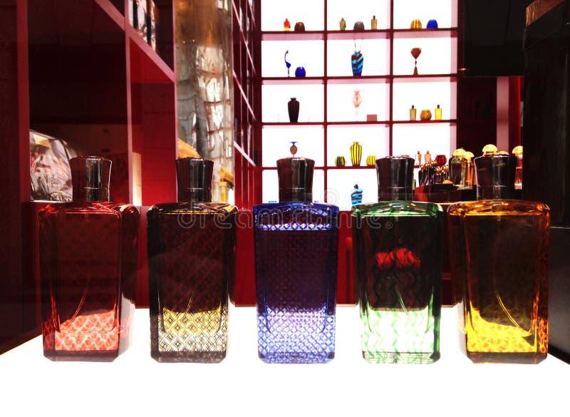 Venetian style perfume bottles. royalty free stock image