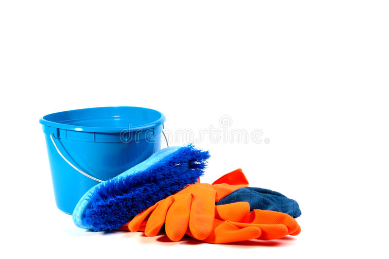 Download Set for cleaning stock photo. Image of housework, orange - 11980358