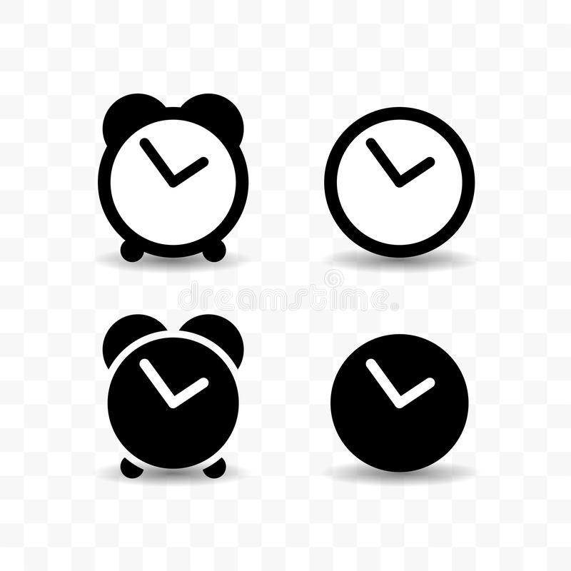 Clock timer icon  stock vector  Illustration of interval