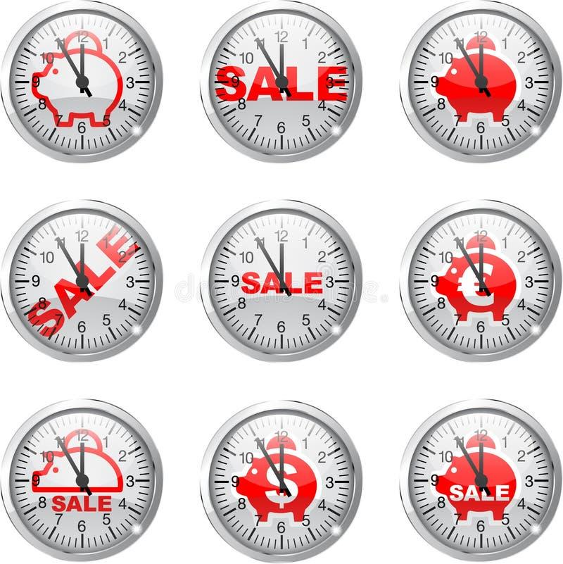 Download Clock piggy bank stock vector. Image of clockwork, collection - 29732589