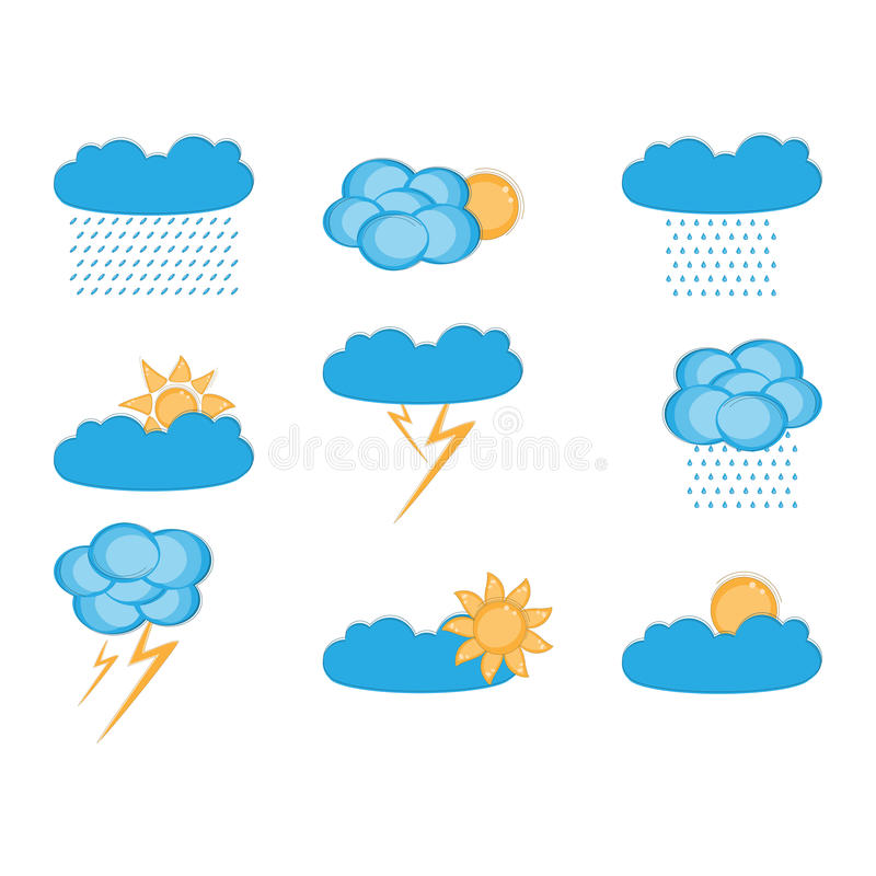 Download Set of clouds stock vector. Image of effects, graphic - 24848180