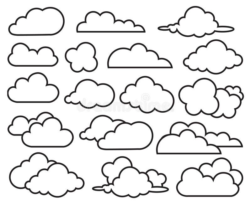 Set of clouds royalty free illustration