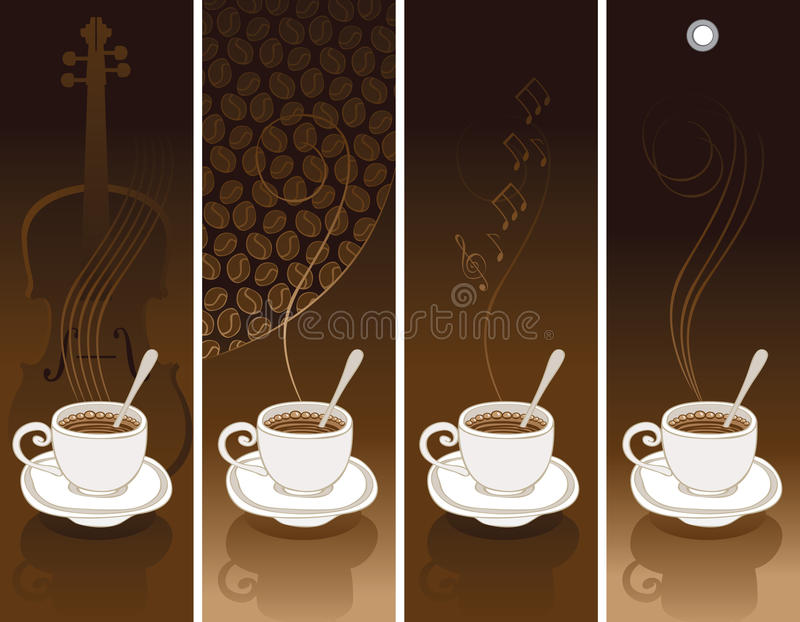 Download Set of coffee banners stock vector. Image of banner, emblem - 23035808