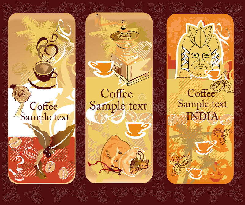 Set of coffee banners royalty free illustration