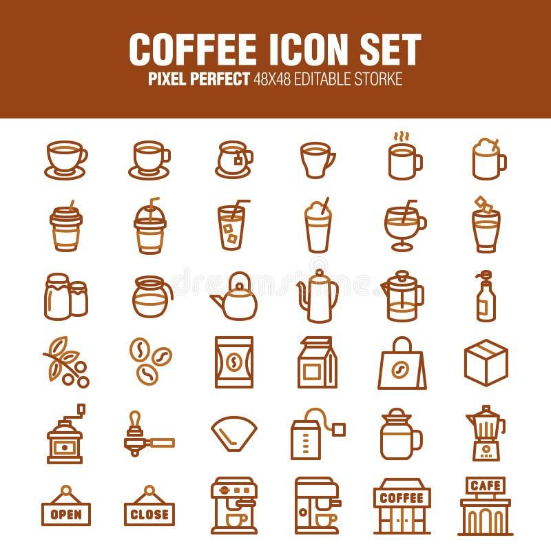 COFFEE VECTOR ICON SET vector illustration