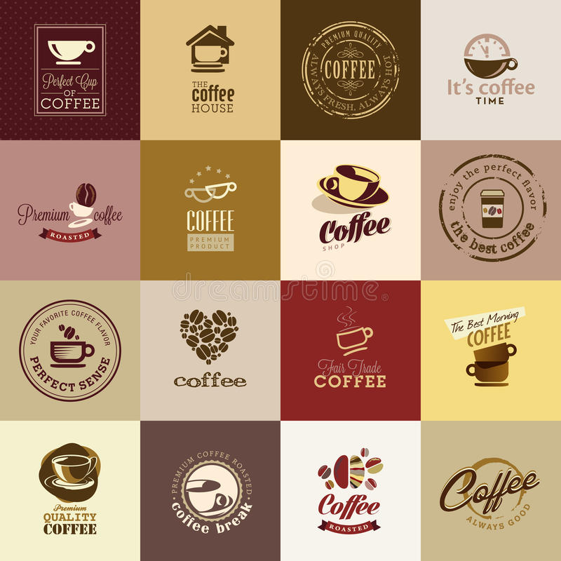 Set Of Coffee Icons Stock Photography