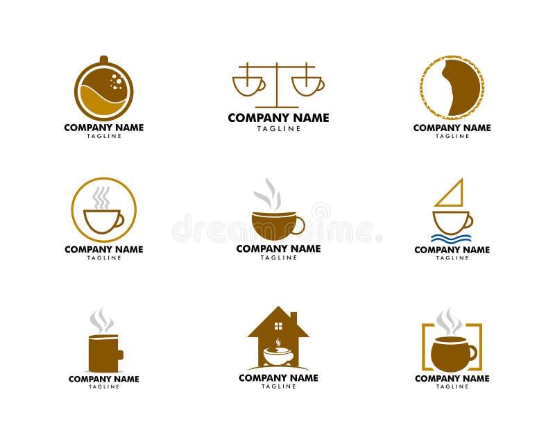Set of Coffee shop logo design template vector illustration
