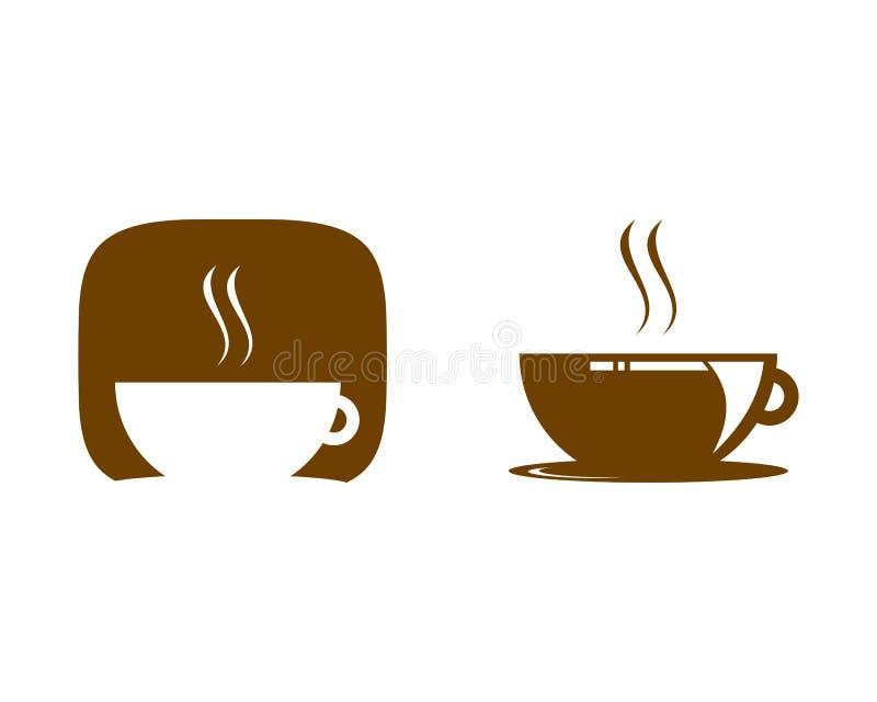 Set of Coffee Shop Logo Icon Template Design Vector Illustration. Coffee shop logo royalty free illustration